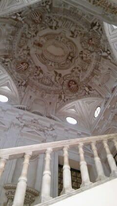 Cúpula y sección de la escalera del Museo de Bellas Artes de Sevilla