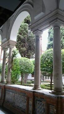 Detalle del Claustro Mayor del Museo de Bellas Artes de Sevilla