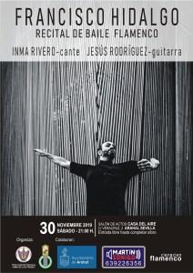 """Recital de baile flamenco """"Francisco Hidalgo"""". Inma Rivero y Jesús Rodríguez. Casa del Aire. Arahal. Arte Flamenco en Andalucía"""