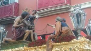 La Pasión según Sevilla: Santísimo Cristo de la Coronación de Espinas (Hdad. de El Valle - foto: Francisco Calvo)