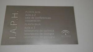Cartel indicador del IAPH