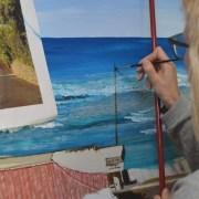 Artceledonia - 'Faro de Matalascañas', de Celedonia Ramón (Arte y Cultura en la Bética)