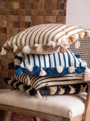Arte y Tejido, Cojín Agra, Agra Cushion, Chorrera, Cojín, Cushion, Tejido, Knitted, Crochet, Natural Fibers, Algodón, Cotton, Fibras Naturales, Agra