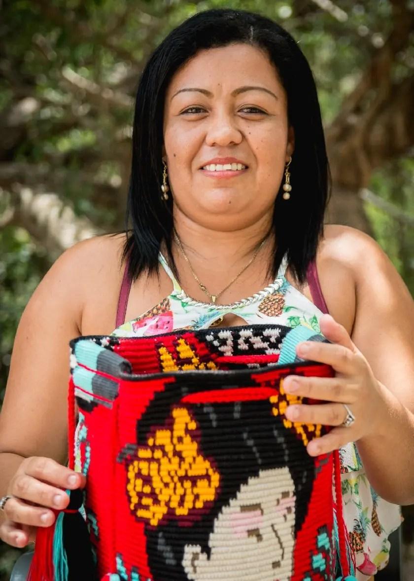 Arte y Tejido, Chorrera, Mochila, Tejida, Knitted, Crochet, Natural Fibers, Algodón, Cotton, Fibras Naturales, Cushion, Bag, Artisan, Artesana, Carmen Molina