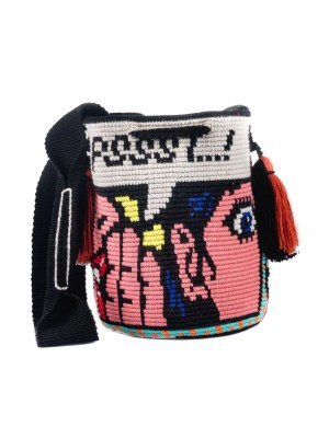 Arte y Tejido, Mochila Balini, Chorrera, Mochila, Tejida, Knitted, Crochet, Natural Fibers, Algodón, Cotton, Fibras Naturales, Bag, Balini
