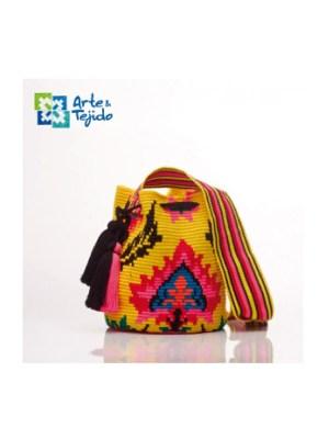 Arte y Tejido, Mochila Beattles, Chorrera, Mochila, Tejida, Knitted, Crochet, Natural Fibers, Algodón, Cotton, Fibras Naturales, Bag, Beattles