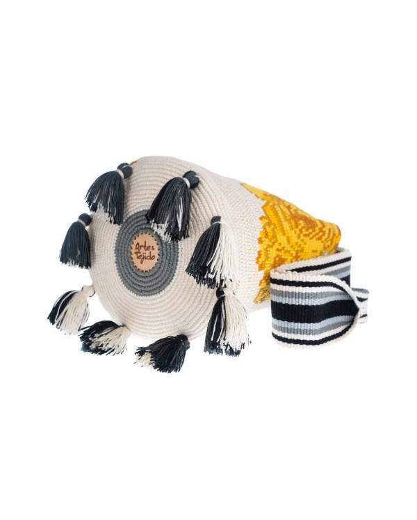 Arte y Tejido, Mochila Beau, Chorrera, Mochila, Tejida, Knitted, Crochet, Natural Fibers, Algodón, Cotton, Fibras Naturales, Bag, Beau