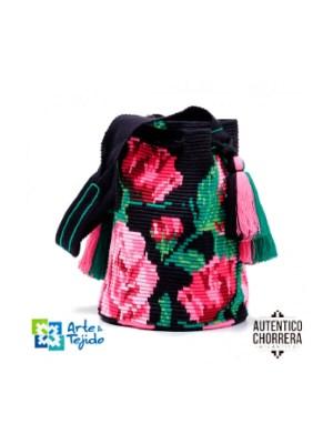 Arte y Tejido, Mochila Colorico, Chorrera, Mochila, Tejida, Knitted, Crochet, Natural Fibers, Algodón, Cotton, Fibras Naturales, Bag, Colorico