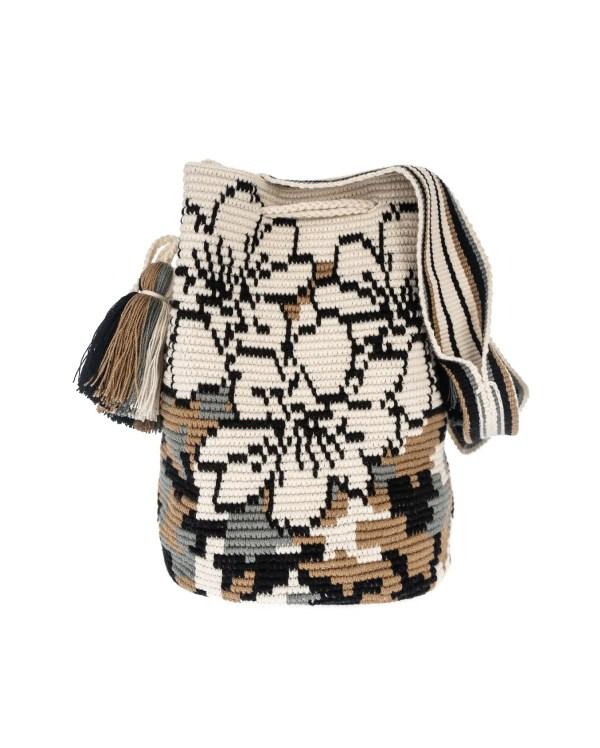 Arte y Tejido, Mochila Cripsis, Chorrera, Mochila, Tejida, Knitted, Crochet, Natural Fibers, Algodón, Cotton, Fibras Naturales, Bag, Cripsis