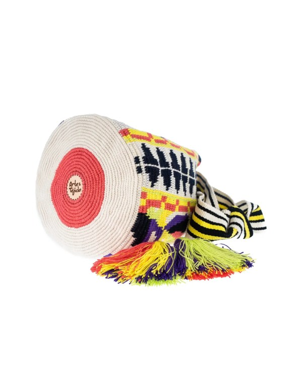 Arte y Tejido, Mochila Faena, Chorrera, Mochila, Tejida, Knitted, Crochet, Natural Fibers, Algodón, Cotton, Fibras Naturales, Bag, Faena
