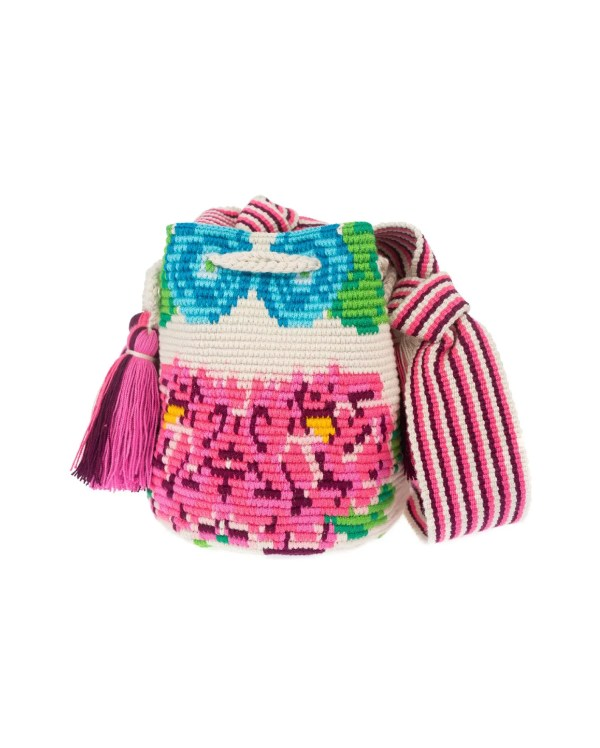 Arte y Tejido, Mochila Flori, Chorrera, Mochila, Tejida, Knitted, Crochet, Natural Fibers, Algodón, Cotton, Fibras Naturales, Bag, Flori