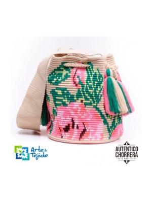 Arte y Tejido, Mochila Fresi, Chorrera, Mochila, Tejida, Knitted, Crochet, Natural Fibers, Algodón, Cotton, Fibras Naturales, Bag, Fresi