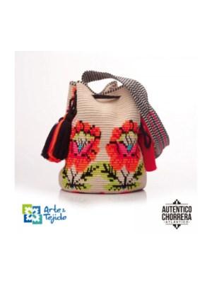 Arte y Tejido, Mochila Gees, Chorrera, Mochila, Tejida, Knitted, Crochet, Natural Fibers, Algodón, Cotton, Fibras Naturales, Bag, Gees