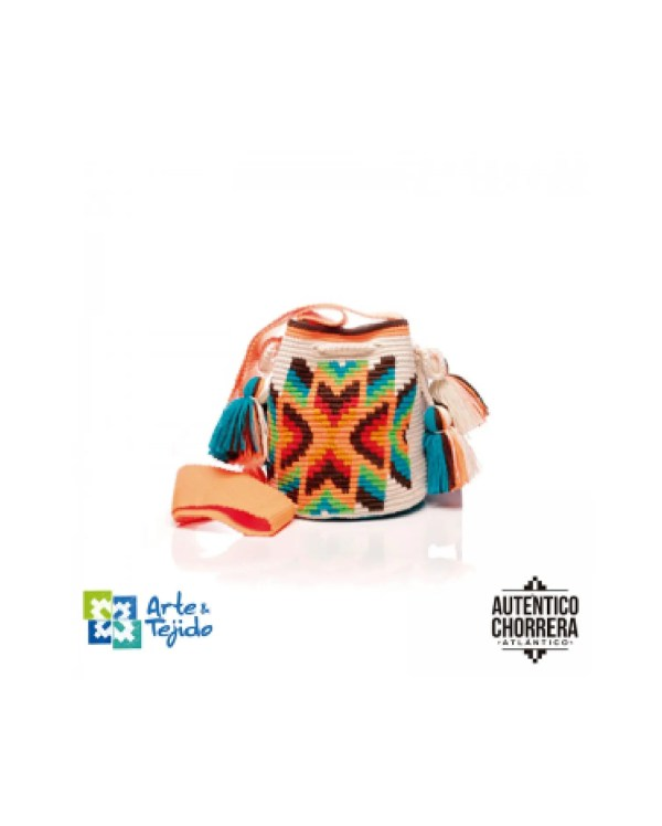 Arte y Tejido, Mochila Hacha, Chorrera, Mochila, Tejida, Knitted, Crochet, Natural Fibers, Algodón, Cotton, Fibras Naturales, Bag, Hacha