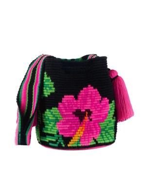 Arte y Tejido, Mochila Hibisco, Chorrera, Mochila, Tejida, Knitted, Crochet, Natural Fibers, Algodón, Cotton, Fibras Naturales, Bag, Hibisco