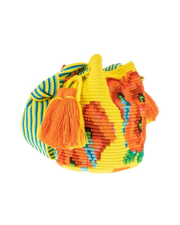 Arte y Tejido, Mochila Hortensy, Chorrera, Mochila, Tejida, Knitted, Crochet, Natural Fibers, Algodón, Cotton, Fibras Naturales, Bag, Hortensy