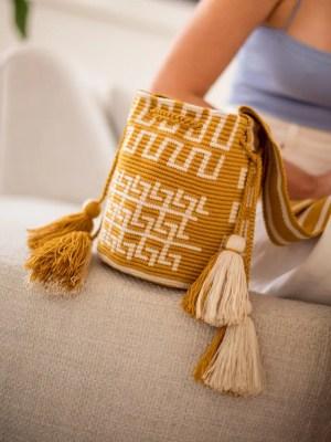 Arte y Tejido, Chorrera, Mochila, Tejida, Knitted, Crochet, Natural Fibers, Algodón, Cotton, Fibras Naturales, Bag, Jaau, Mochila Jaau