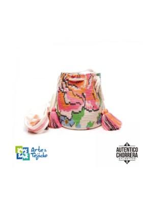 Arte y Tejido, Mochila Malva, Chorrera, Mochila, Tejida, Knitted, Crochet, Natural Fibers, Algodón, Cotton, Fibras Naturales, Bag, Malva