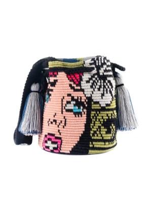 Arte y Tejido, Mochila Marvel, Chorrera, Mochila, Tejida, Knitted, Crochet, Natural Fibers, Algodón, Cotton, Fibras Naturales, Bag, Marvel