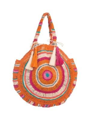 Arte y Tejido, Chorrera, Mochila, Tejida, Knitted, Crochet, Natural Fibers, Algodón, Cotton, Fibras Naturales, Bag, Masiagua, Frenesí, Mochila Masiagua