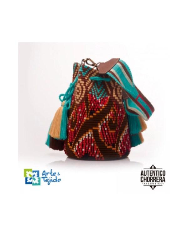 Arte y Tejido, Mochila Medallon, Chorrera, Mochila, Tejida, Knitted, Crochet, Natural Fibers, Algodón, Cotton, Fibras Naturales, Bag, Medallon