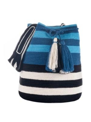 Arte y Tejido, Mochila Milano, Chorrera, Mochila, Tejida, Knitted, Crochet, Natural Fibers, Algodón, Cotton, Fibras Naturales, Bag, Milano