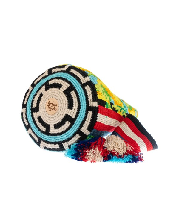 Arte y Tejido, Chorrera, Mochila, Tejida, Knitted, Crochet, Natural Fibers, Algodón, Cotton, Fibras Naturales, Bag, Mina
