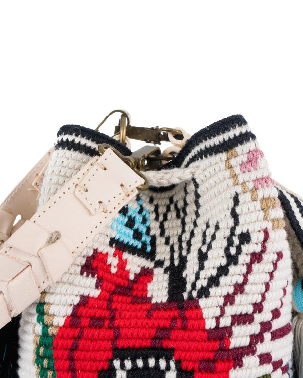 Arte y Tejido, Mochila Monty, Chorrera, Mochila, Tejida, Knitted, Crochet, Natural Fibers, Algodón, Cotton, Fibras Naturales, Bag, Monty, Frenesí