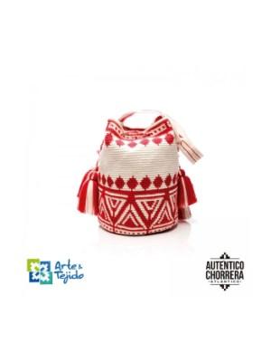 Arte y Tejido, Mochila Nuba, Chorrera, Mochila, Tejida, Knitted, Crochet, Natural Fibers, Algodón, Cotton, Fibras Naturales, Bag, Nuba