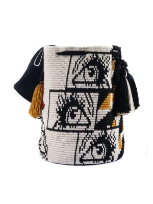 Arte y Tejido, Mochila OMG, Chorrera, Mochila, Tejida, Knitted, Crochet, Natural Fibers, Algodón, Cotton, Fibras Naturales, Bag, OMG