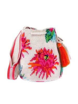 Arte y Tejido, Mochila Paraiso, Chorrera, Mochila, Tejida, Knitted, Crochet, Natural Fibers, Algodón, Cotton, Fibras Naturales, Bag, Paraiso