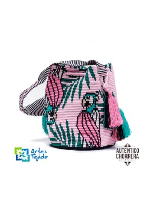 Arte y Tejido, Mochila Parrot, Chorrera, Mochila, Tejida, Knitted, Crochet, Natural Fibers, Algodón, Cotton, Fibras Naturales, Bag, Parrot