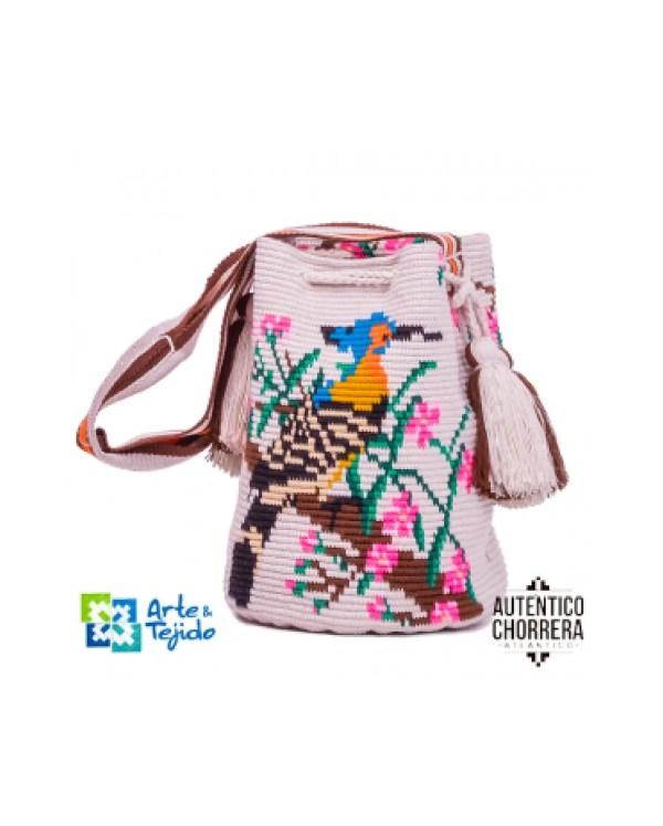 Arte y Tejido, Mochila Pintangus, Chorrera, Mochila, Tejida, Knitted, Crochet, Natural Fibers, Algodón, Cotton, Fibras Naturales, Bag, Pitangus