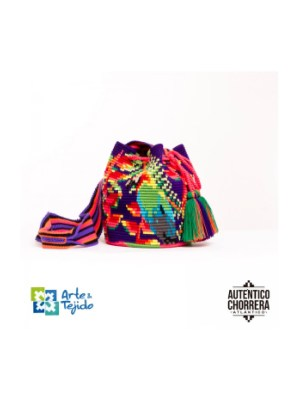 Arte y Tejido, Mochila Rosella, Chorrera, Mochila, Tejida, Knitted, Crochet, Natural Fibers, Algodón, Cotton, Fibras Naturales, Bag, Rosella