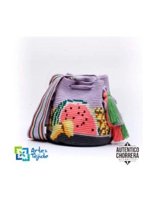 Arte y Tejido, Mochila Sandia, Chorrera, Mochila, Tejida, Knitted, Crochet, Natural Fibers, Algodón, Cotton, Fibras Naturales, Bag, Sandia