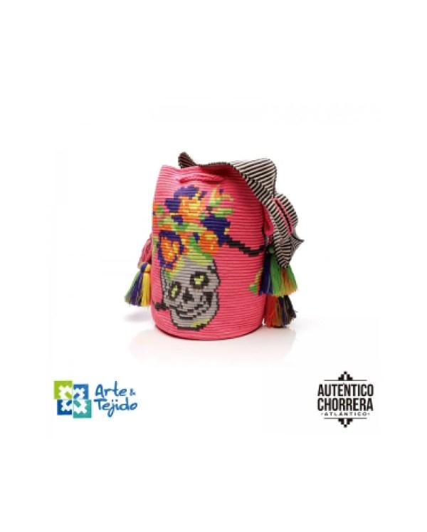 Arte y Tejido, Mochila Selene, Chorrera, Mochila, Tejida, Knitted, Crochet, Natural Fibers, Algodón, Cotton, Fibras Naturales, Bag, Selene