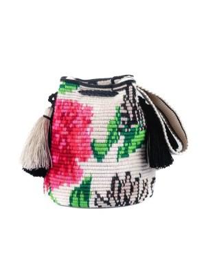 Arte y Tejido, Mochila Sensia, Chorrera, Mochila, Tejida, Knitted, Crochet, Natural Fibers, Algodón, Cotton, Fibras Naturales, Bag, Sensia