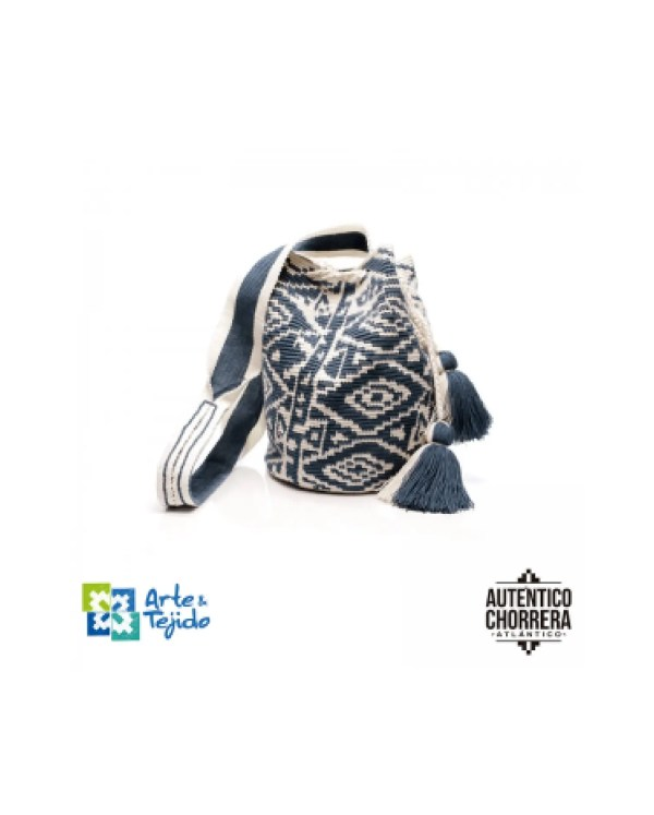 Arte y Tejido, Mochila Turkana, Chorrera, Mochila, Tejida, Knitted, Crochet, Natural Fibers, Algodón, Cotton, Fibras Naturales, Bag, Turkana