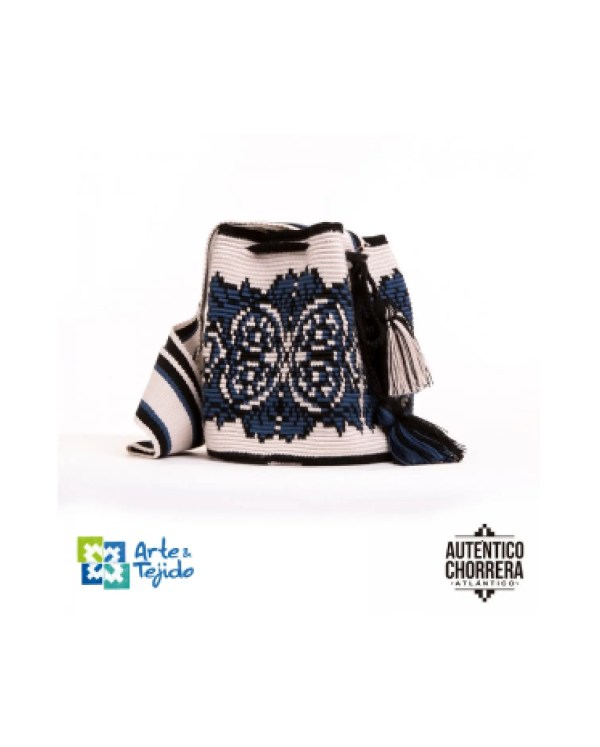Arte y Tejido, Mochila Uriarte, Chorrera, Mochila, Tejida, Knitted, Crochet, Natural Fibers, Algodón, Cotton, Fibras Naturales, Bag, Uriarte