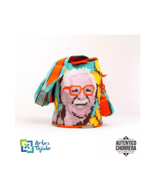 Arte y Tejido, Mochila Ursula Iguaran, Chorrera, Mochila, Tejida, Knitted, Crochet, Natural Fibers, Algodón, Cotton, Fibras Naturales, Bag, Ursula Iguaran