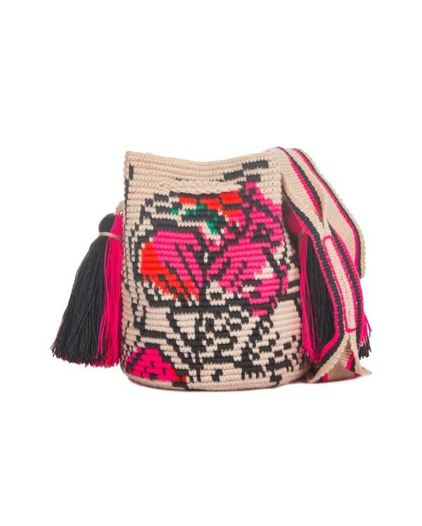 Arte y Tejido, Chorrera, Mochila, Tejida, Knitted, Crochet, Natural Fibers, Algodón, Cotton, Fibras Naturales, Bag, Vera, Frenesí, Mochila Vera