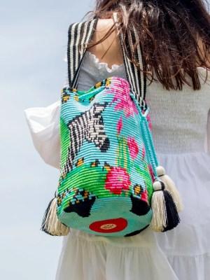 Arte y Tejido, Chorrera, Mochila, Tejida, Knitted, Crochet, Natural Fibers, Algodón, Cotton, Fibras Naturales, Bag, Zeeb, Mochila Zeeb