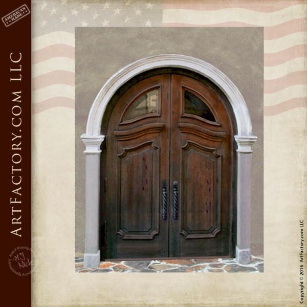 custom Art Nouveau entrance doors