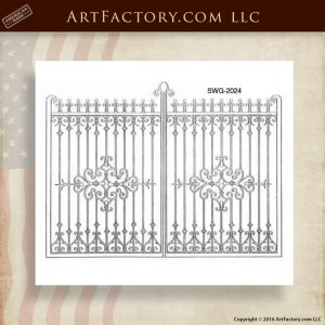 Decorative Iron Scroll Gates