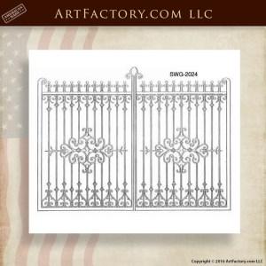 Decorative Iron Scroll Gates