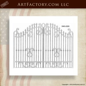 Decorative Iron Security Gate