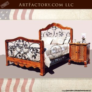 Exotic Cedar Wrought Iron Bed
