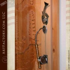 Vintage Fly Fishing Rod Door Pull
