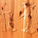 western style cabin door