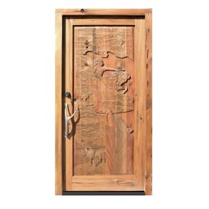 western theme hand carved doors
